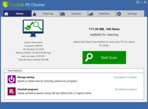 OneSafe PC Cleaner Pro Keygen