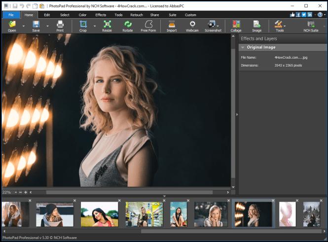 NCH PhotoPad Image Editor Pro 7.50 Crack